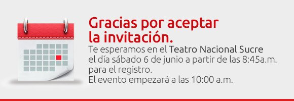 Gracias por aceptar la invitación